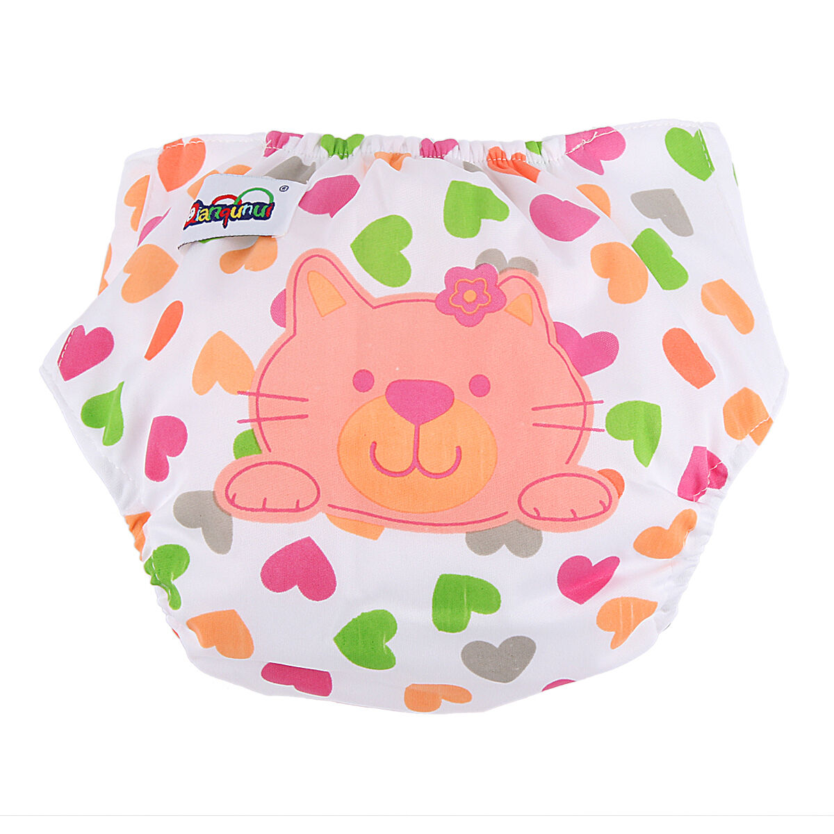 5pcs+ 5INSERT Lovely printing Adjustable Reusable Washable Cloth Diaper Nappies  Cat
