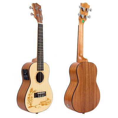 Kmise Laminated Spruce 23 inch Electric Acoustic Concert Uku