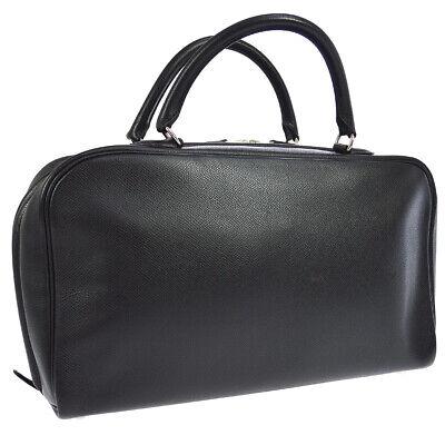 HERMES Sac Envi 36 Hand Bag Black Veau Epsom SHW ⬜J Authentic Purse JT06192b