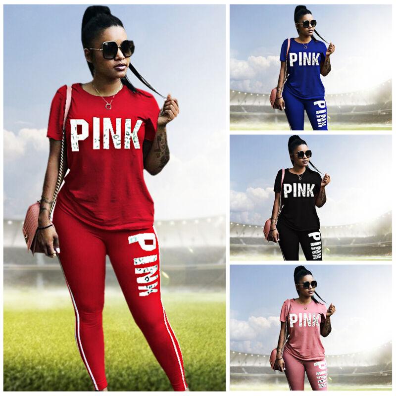 Ladies Women Vogue Short Sleeve Boxy Loungewear Tracksuit 2 Piece  Set Jog Suit