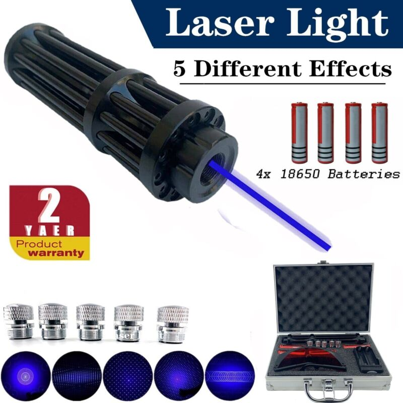 Blue Laser Pointer 450nm Visible Beam Light High Power Burning Lazer +Box US