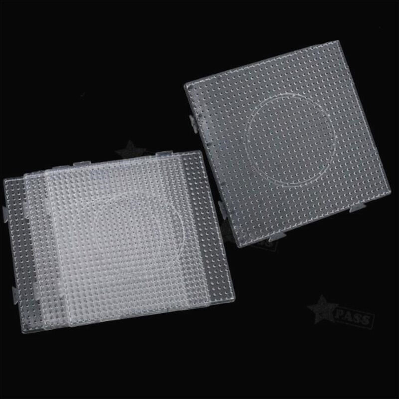 Large Clear Square Perler Beads Pegboard DIY Educational Toys