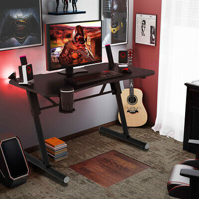 Large Gaming Computer Desk Ergonomic Pc Racing Table Office Home With Cup Holder