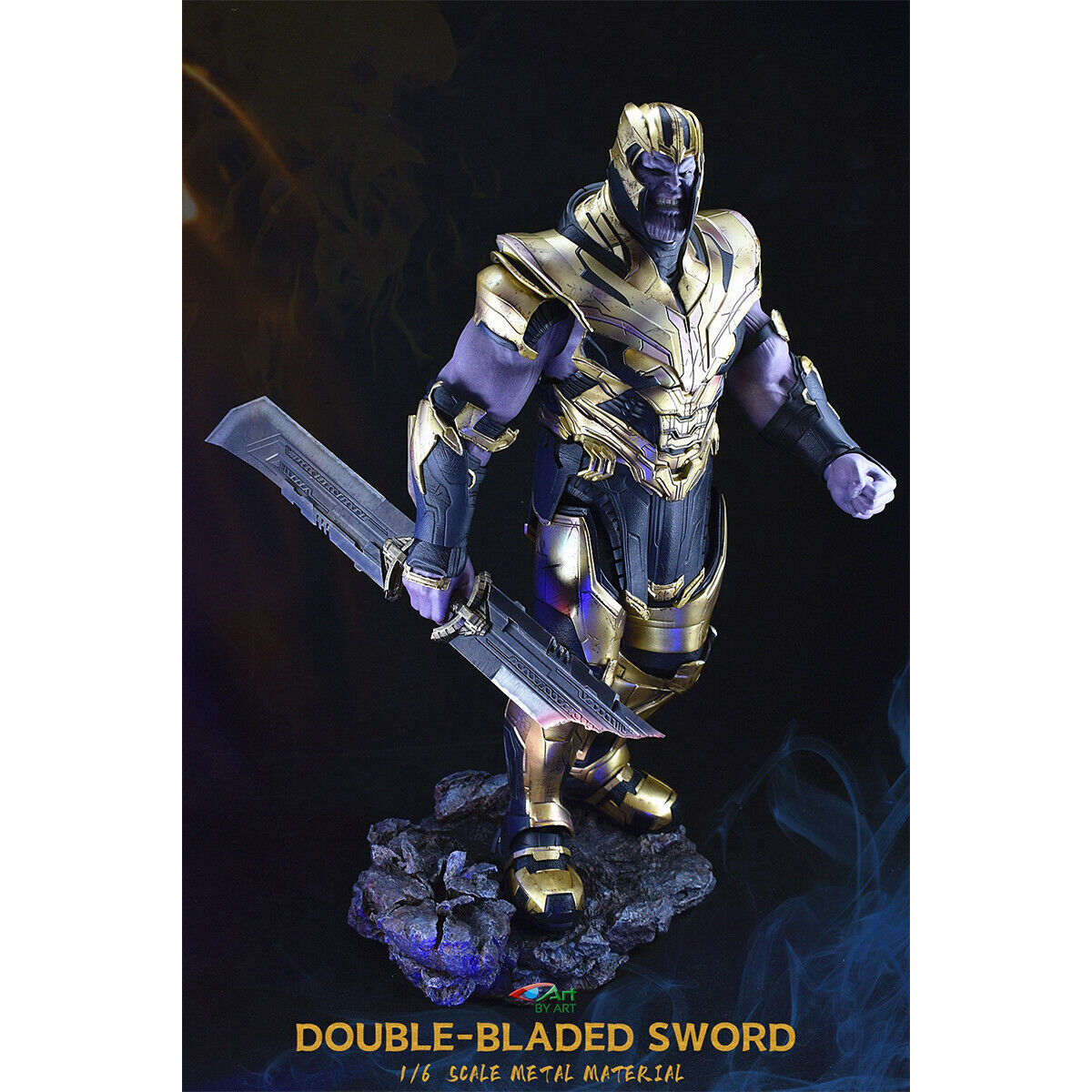 1//12 Thanos Weapon Double-edged Broadsword Avengers 4 F 6/'/' Soldiers Figure Toy