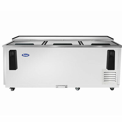 80 Back Bar Bottle Cooler Chiller Refrigerator On Wheels 6 Feet 8 Inches Nsf