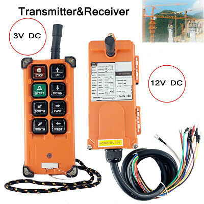 12-72v Wireless Industrial Remote Control For Transmitter Receiver Hoist Crane