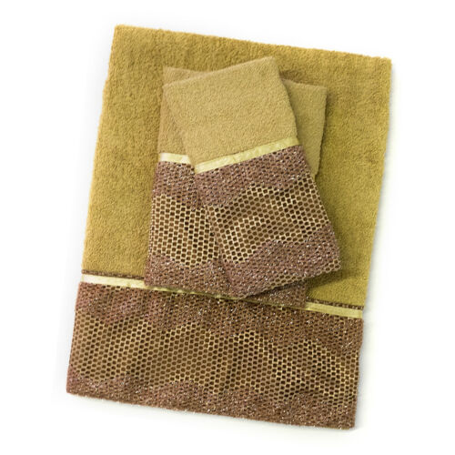 3 Piece Towel Set- Bronze Popular Bath Chateau Bathroom Collection Bath