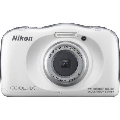 Nikon COOLPIX S33 13.2MP Waterproof Shock-Freezeproof Digital Camera (White)