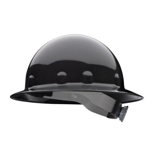 Fibre-Metal Full Brim Hard Hat with 8 Point Ratchet Suspension, Black