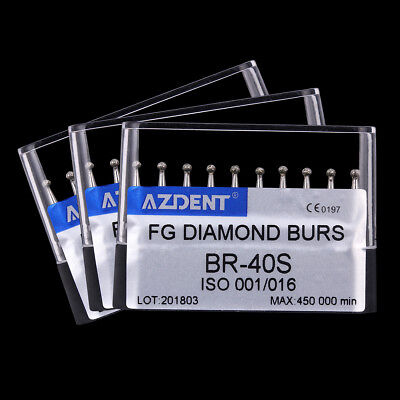 Usps 3x Dental High Speed Super Coarse Diamond Burs Ball Shape Br-40s