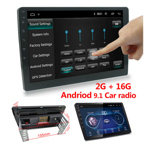 """Double 2 Din 10.1"""" Android 9.1 4-Core Car Stereo Radio MP5 Player GPS Wifi BT FM"""