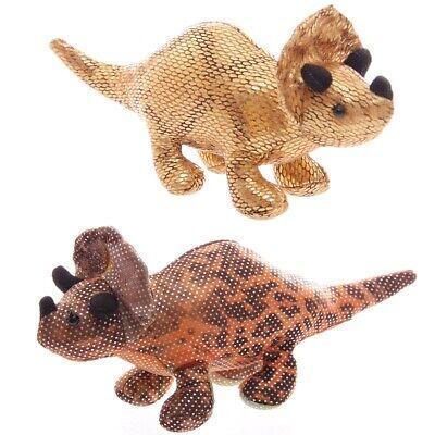 Triceratops Sandtier Länge 17,5 cm teil sandgefüllt Dinosaurier klein