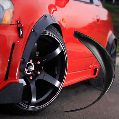 UK 4pcs 30'' Car Rear Wheel Eyebrows Protective Lip Arch Trim Flare Fender Strip