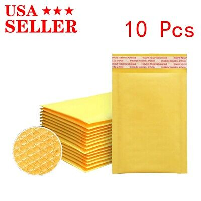10 Kraft Paper Bubble Bags For Small Objects Packaging Envelopes New