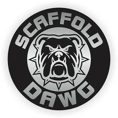 Scaffold Dawg Hard Hat Sticker | Helmet Decal | Label Scaffolding Builder Dog