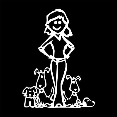 Crazy Animal Dog Lady Funny Family Car Vinyl Sticker Window Laptop Truck Decal - Crazy Animal