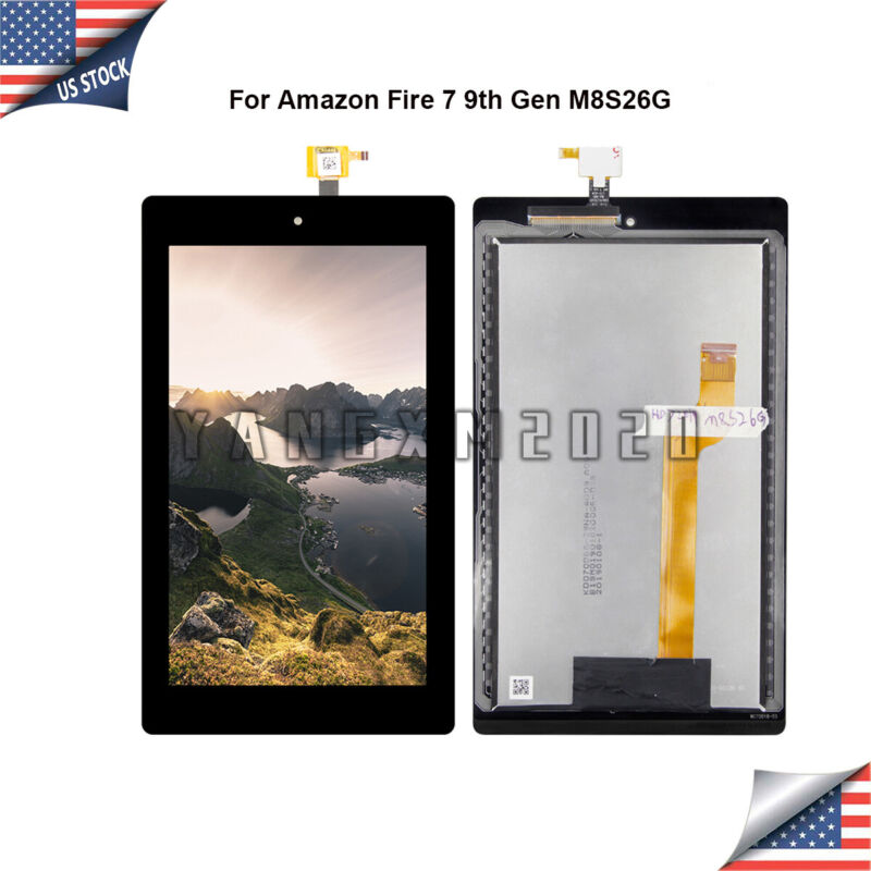 For Amazon Fire 7 9th Gen M8S26G LCD Screen Touch Digitizer Assembly @US