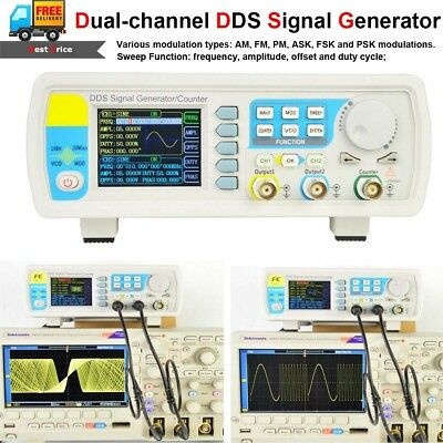 60mhz Dds Function Signal Generator Dual Channel Arbitrary Waveform Pulse Meter