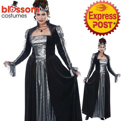 CA888 Dark Majesty Medieval Renaissance Queen Evil Villain Plus Size Costume - Plus Size Villain Costumes