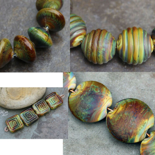 Raku - Handmade Glass Lampwork  Beads MTO elasia - Choose Shape