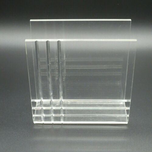 VINTAGE CLEAR LUCITE ART DECO STYLE NAPKIN HOLDER