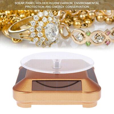 Solar 360 Degree Rotating Rotary Turntable Phone Watch Jewelry Display Cud