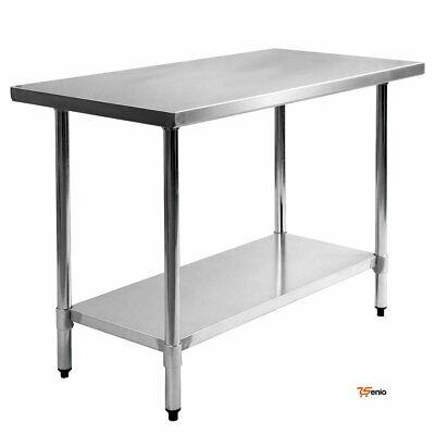 Kitchen Table Food Prep Work Table Commercial Restaurant Shelf Stainless Steel 3