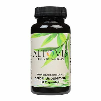 Altovis® Energy Booster Herbal Supplement - 30 ct Bottle - 1 month (Herbal Energy Boosters)