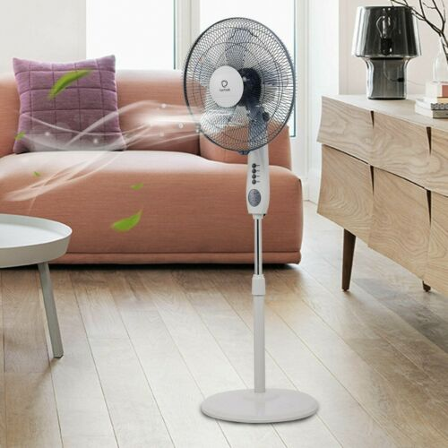 5 Blades 3 Mode Height Adjustable Remote Control Pedestal Fa