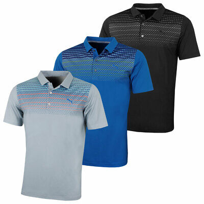 Puma Golf Mens Sportstyle Road Map UV Resistant Polo Shirt 45% OFF RRP