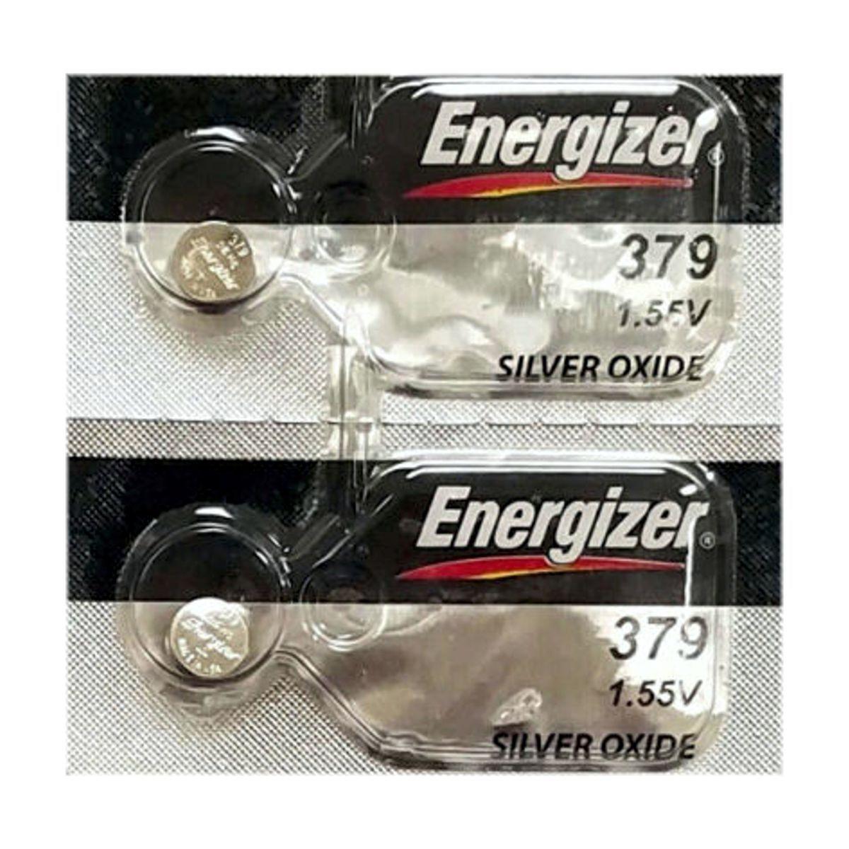 2 ENERGIZER 379 SR521SW SR521 V379 SILVER OXIDE watch battery