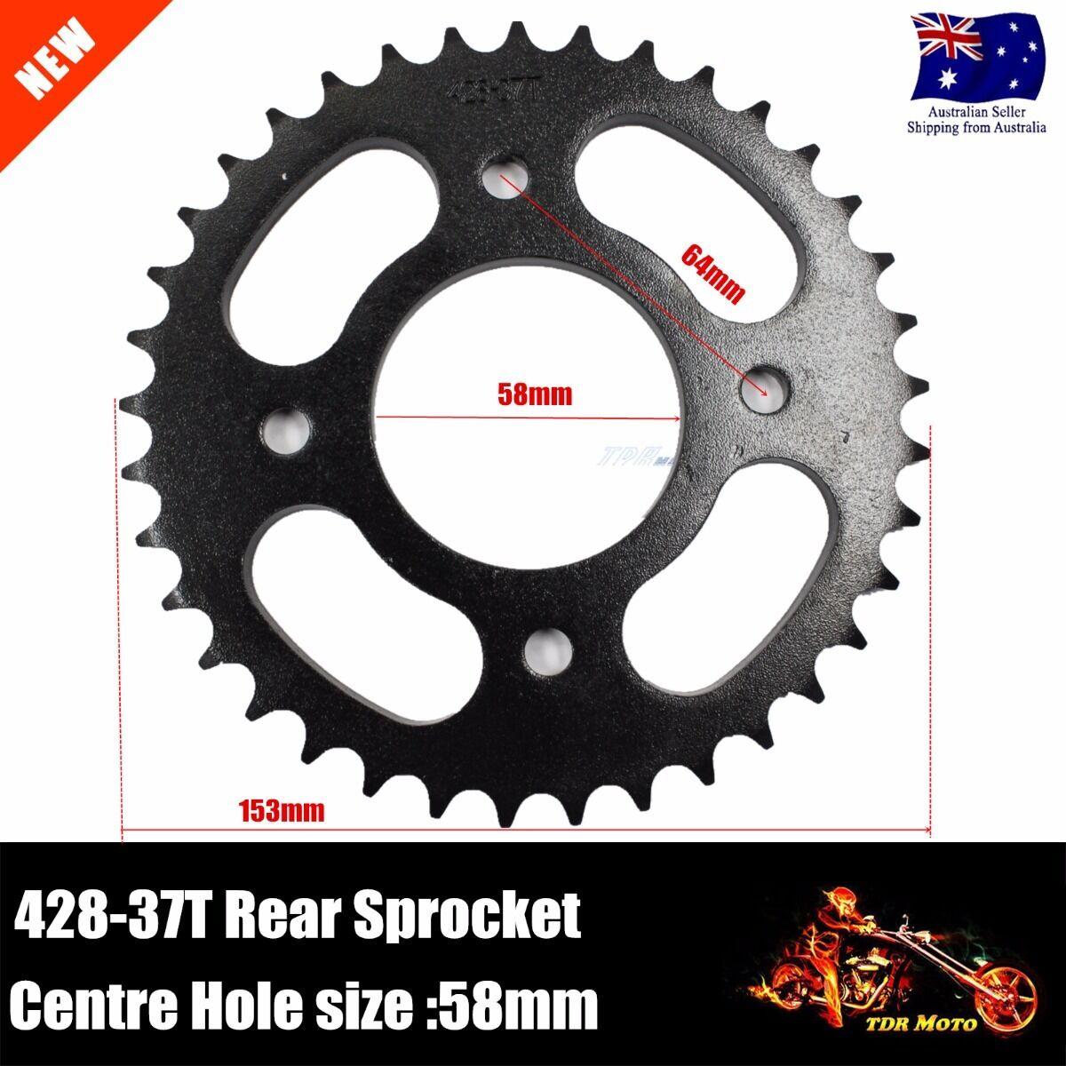 X-PRO 428 Chain 40 Tooth Rear Sprocket for 110cc 125cc 150cc ATVs