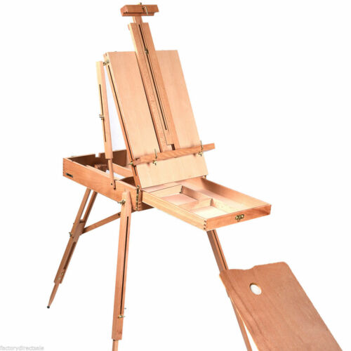 Easel Wooden Sketch Box Portable Folding Durable Artist Painters Tripod French