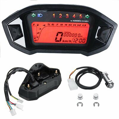 Motorcycles Digital Speedometer Gauge LCD Backlight Speedo Waterproof Touch New