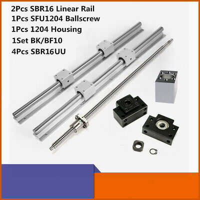 2x Linear Rail Support Kit 1x Ballscrew Rm1605 L300-1500mm For Cnc Machine