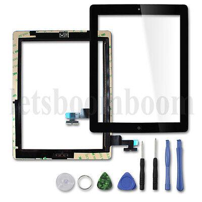 Touch Screen Klebe Scheibe für iPad 2 Ersatzteil Touch-Screen Front Glas Schwarz