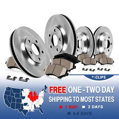 Front and Rear Brake Rotors & Ceramic Pads 2011 2012 2013 CHEVY IMPALA LS LT LTZ