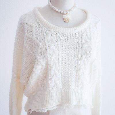 🌸 LIZ LISA🌸Bow Dolman Sleeve Sweater Dress Japan M Romantic Lolita Hime D005