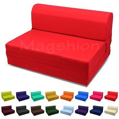 (Red Twin Size Wide Sleeper Chair Folding Foam Bed 70