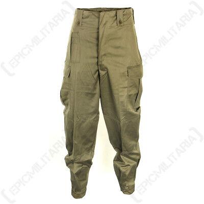 Belgian Olive Green BDU Trousers - Army Surplus Combat Belgium Military Pants  Army Surplus Bdu Pants