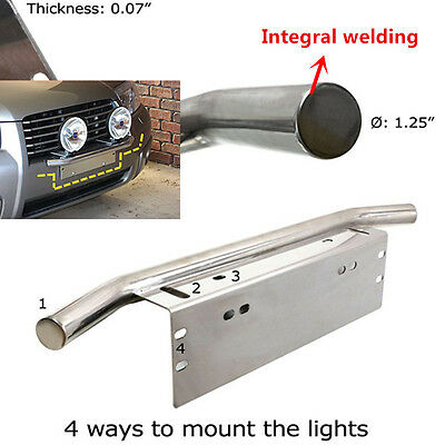 2xCar Motorcycle Bull Bar Lights Headlight Turn Signal Aluminum Mounting Bracket
