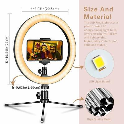 """10"""" LED Dimmable Ring Light with Tripod Stand for Youtube Makeup Selfie Camera"""