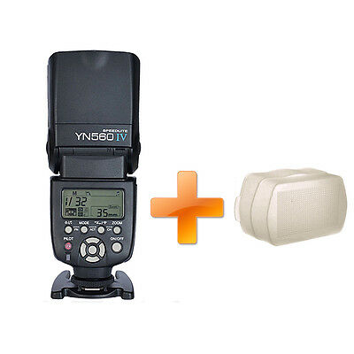 Yongnuo Aufsteckblitz YN560 IV YN-560iv Speedlite Blitzgerät Diffusor für Canon