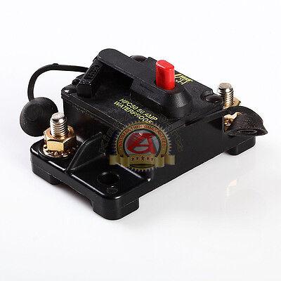 Waterproof 50 Amp Manual Reset Circuit Breaker 12v Car Auto Boat Audio Fuse 50a