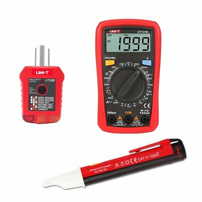 Electrical Test Kit With Palm Size Digital Multimeter Receptacle Tester Detector