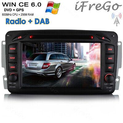 Autoradio Navi Bluetooth USB DVD GPS MP3 Für Benz C Klasse W203 CLK W209 Viano