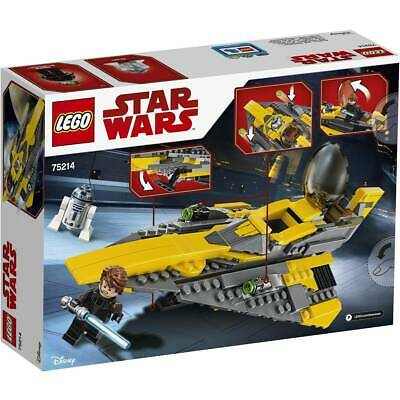 NEW LEGO Star Wars Anakin's Jedi Starfighter 75214 Includes 2 Minifigures R2-D2