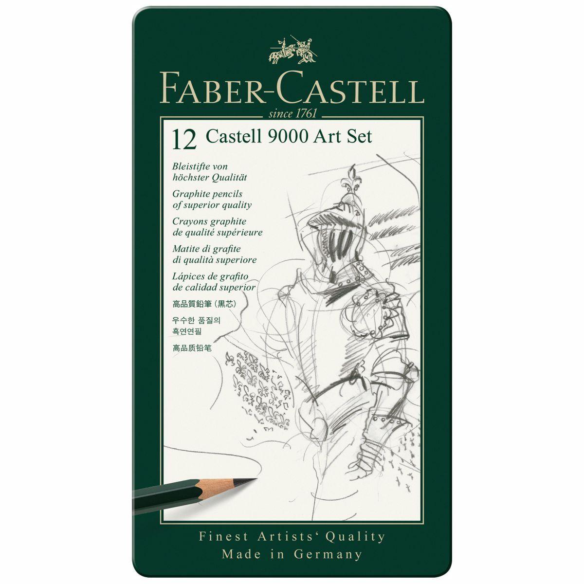 FABER CASTELL Bleistift ART Set 119065 12 Stück 8B-2H