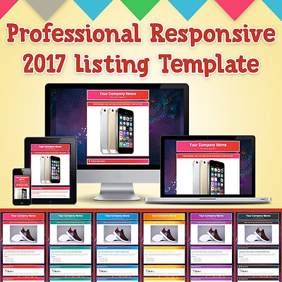 PROFESSIONAL EBAY AUCTION LISTING RESPONSIVE TEMPLATE  2017 *NO ACTIVE CONTENTS*
