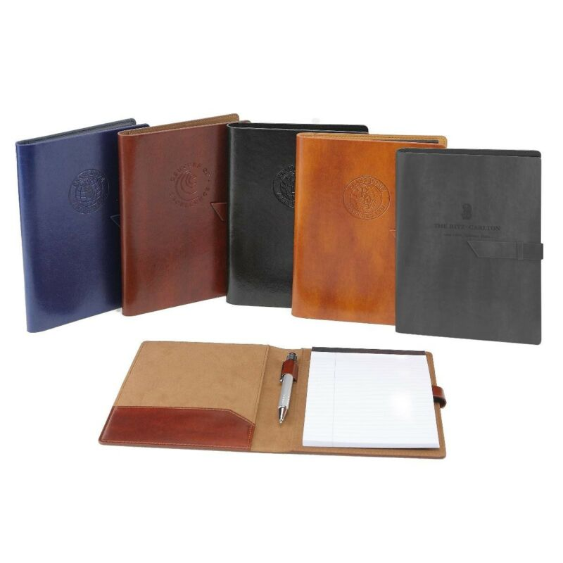 Italian Leather Business Padfolio Portfolio Organizer Resume Folder: 5 Colors